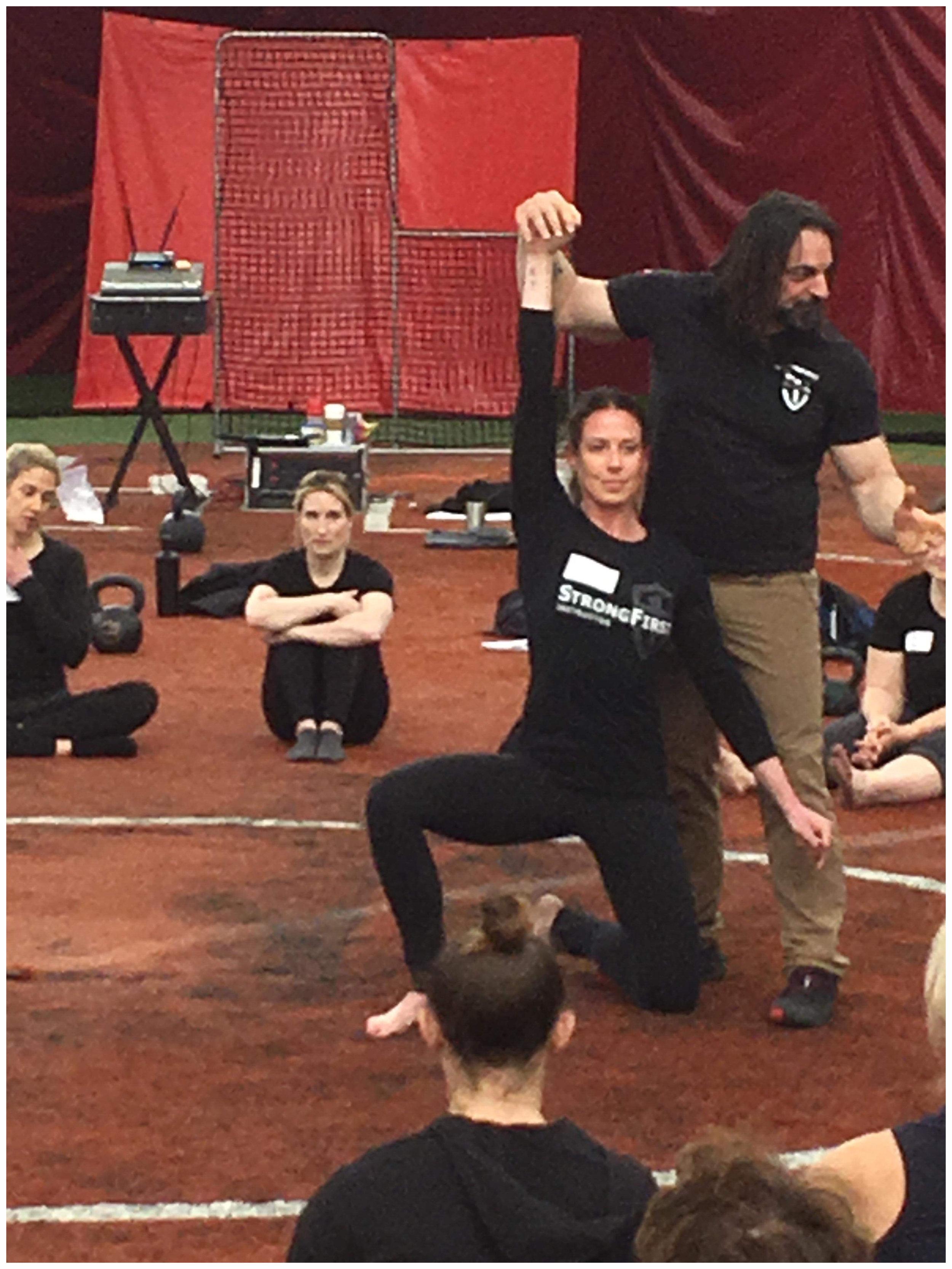 Assisting StrongFirst Master Fabio Zonin  Photo Courtesy of Extreme Training, LLC.