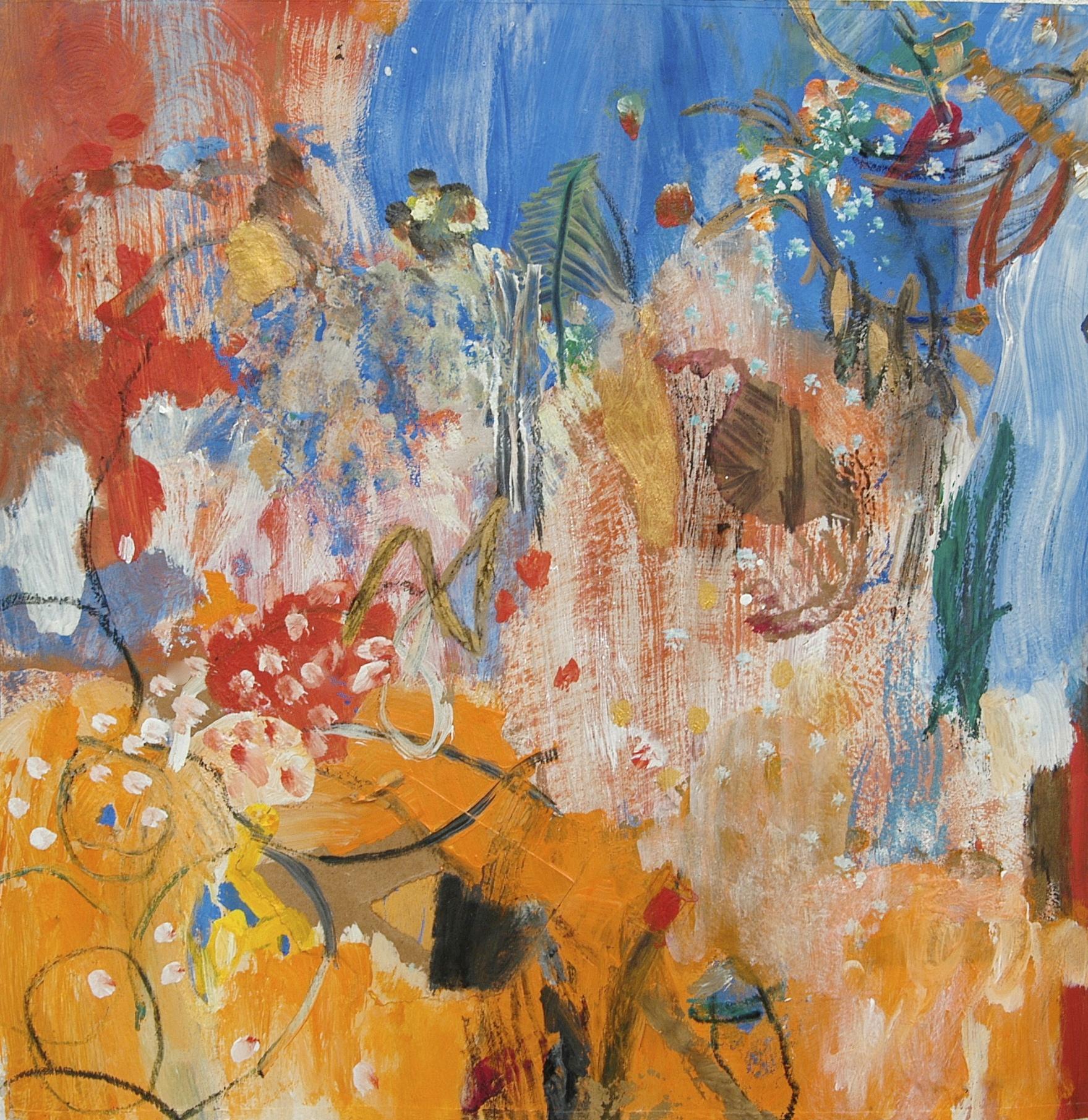 Terra Incognita -            Ellen McKay 2009 -  acrylic, collage, mixed media on paper 15%22x 15%22 .jpg