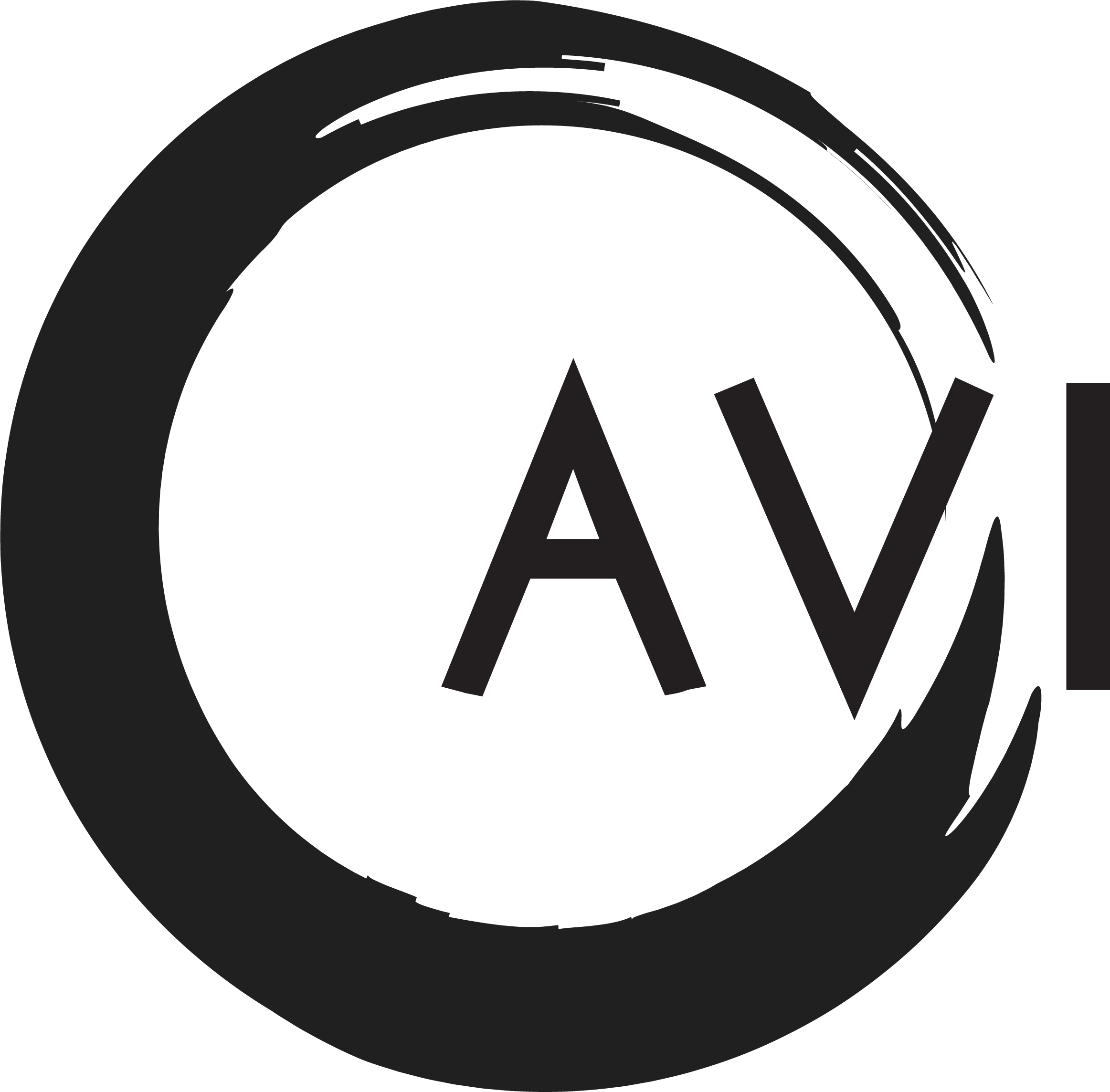 The AVI Logo - The goal was for AVI to represent a streamlined yet whimsical experience for the customer. Symbolically we decided that a circle was the best representation of this unanimity.