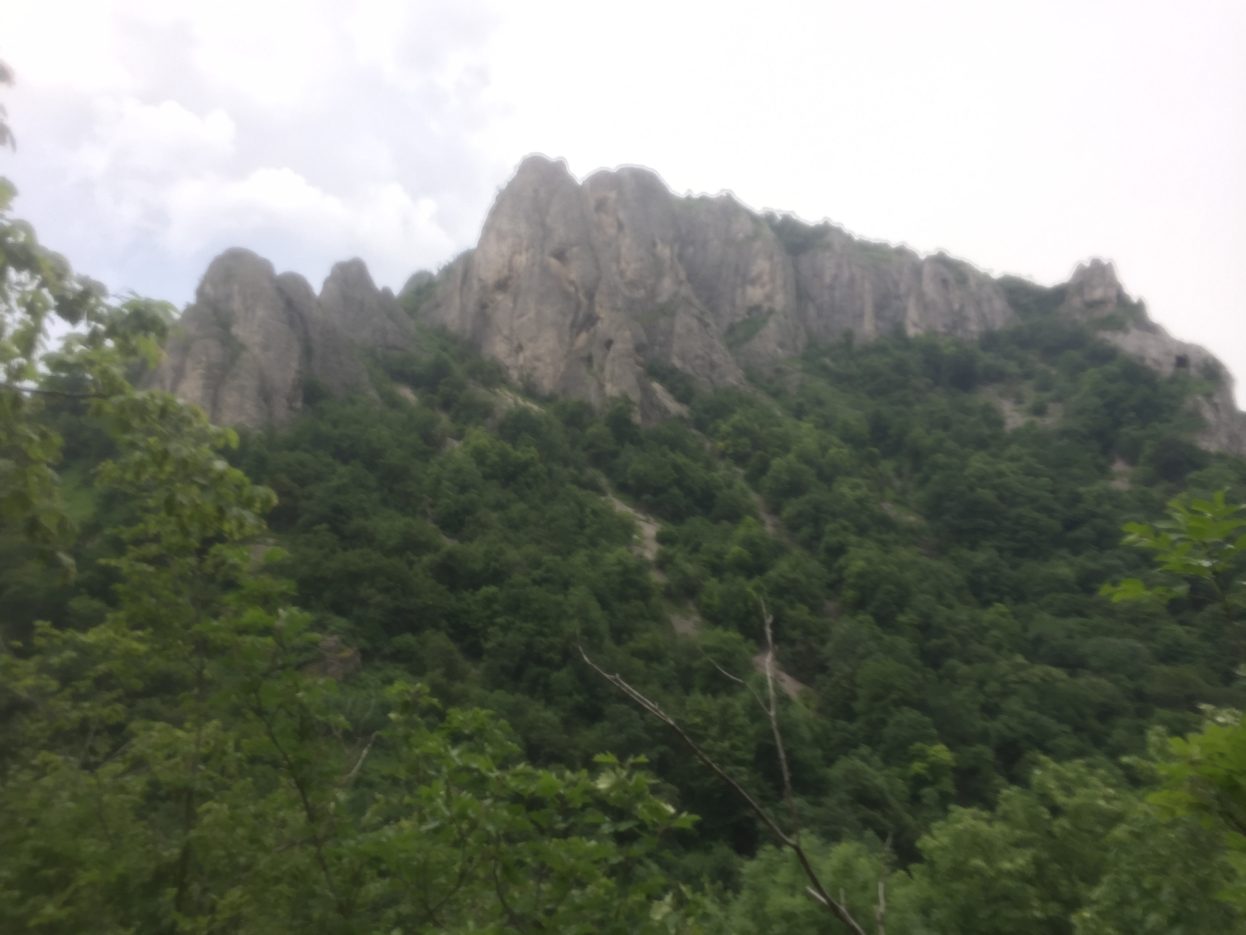 A view of some rocks. Unfortunately my camera lens was covered in sweat when I took this shot.