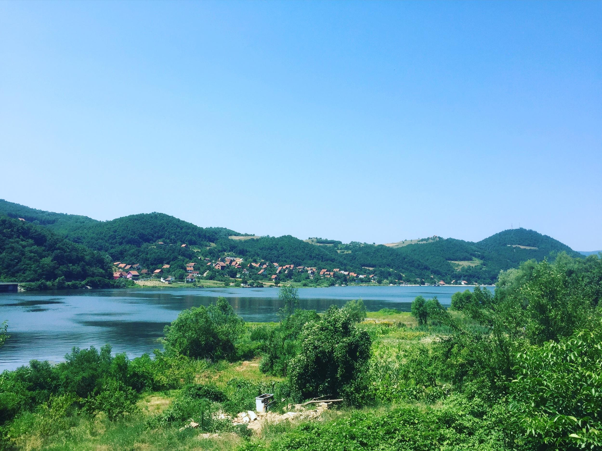 Staring at the Danube and at Romania