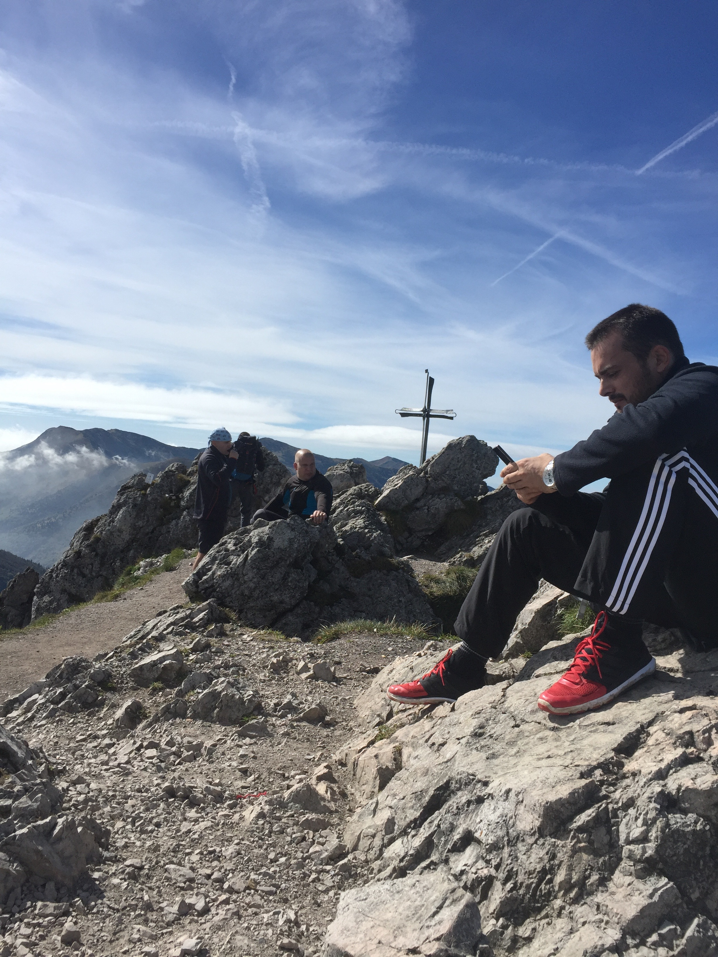 On top of one of the peaks on the Malá Fatra.