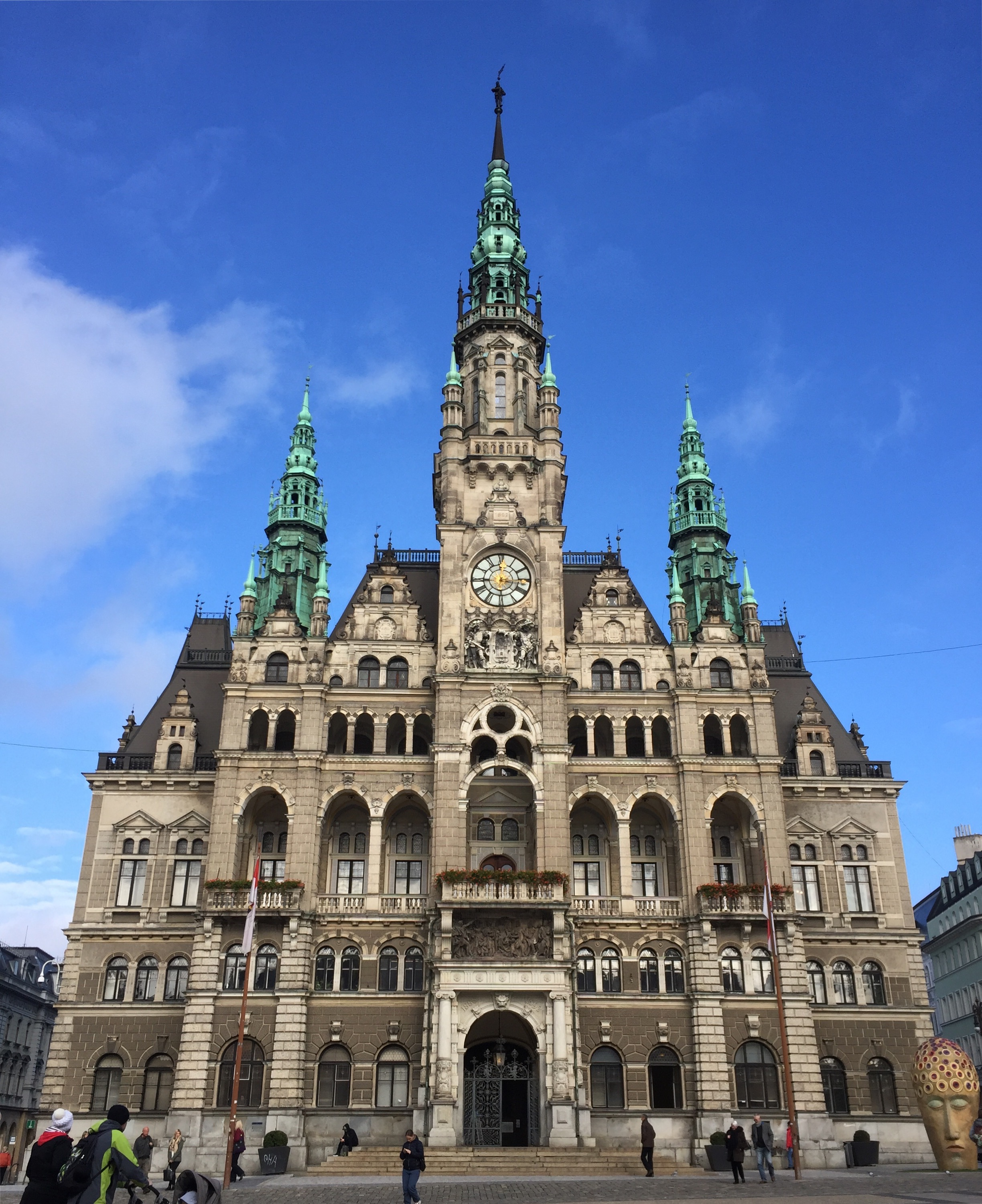 The town hall in Liberec.