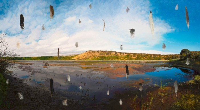Disturbance 2014, 120 x 180cm, oil on polyester canvas