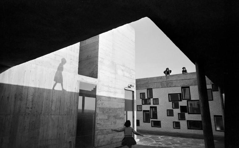 Lucien Hervé: Unité d'Habitation, Nantes-Rezé, France , Le Corbusier architect, 1954.