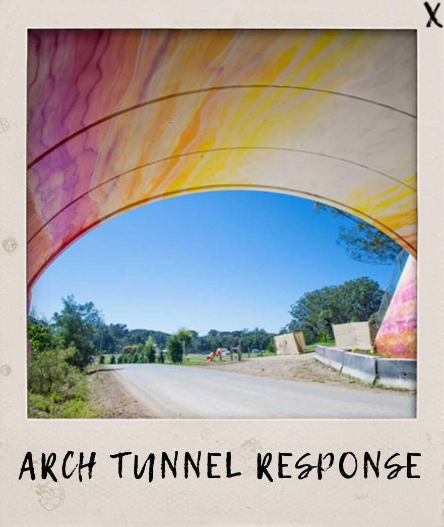 Arch Tunnel Response  by Ash Keating