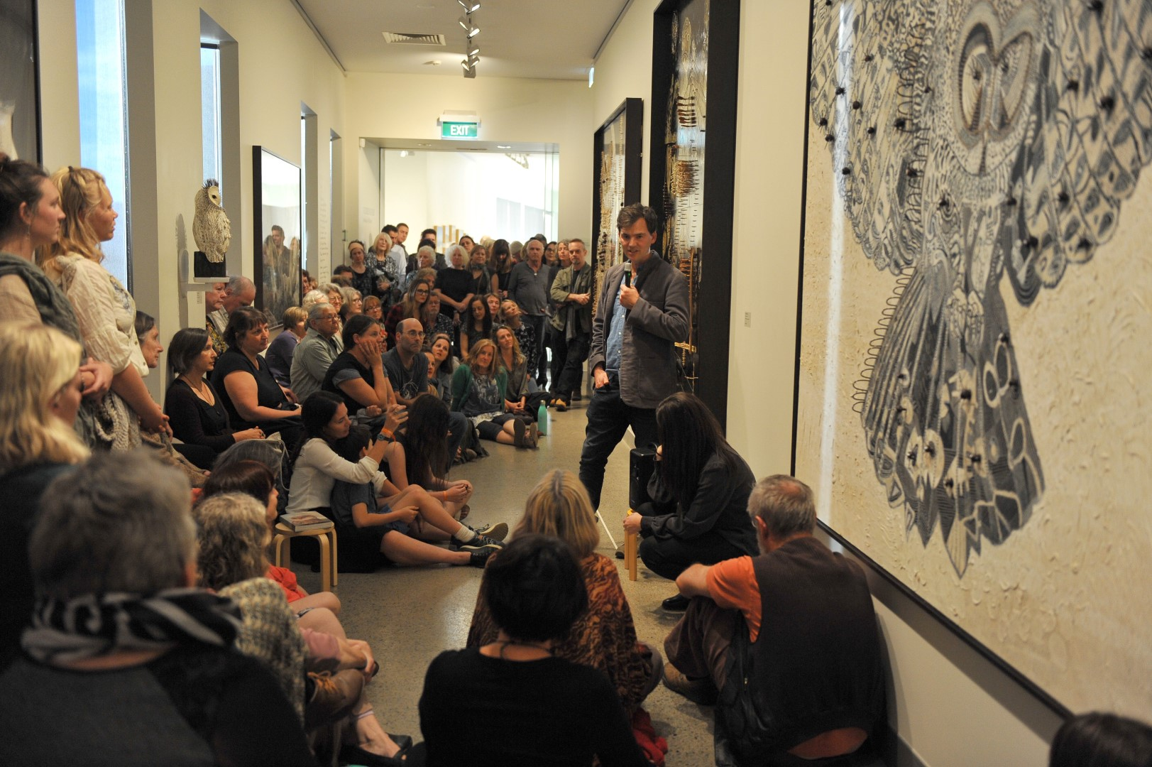 Yeldham giving a previous talk at Tweed Regional Gallery.