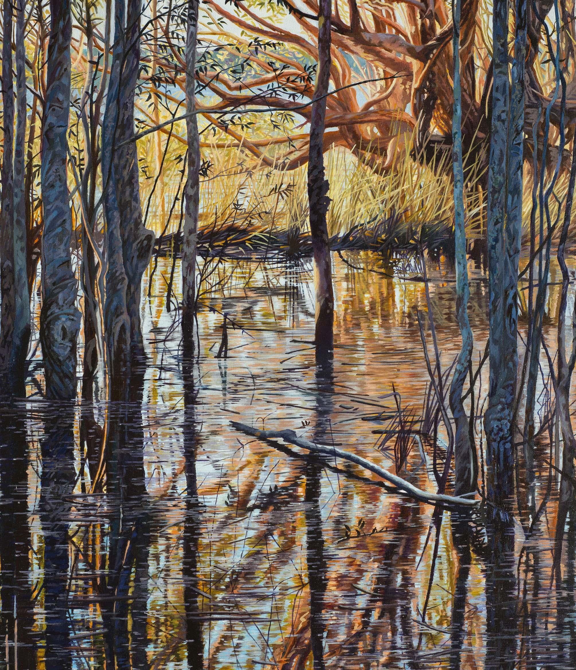 Jennifer Porter, Receding flood 2017, oil on canvas, 81x54cm