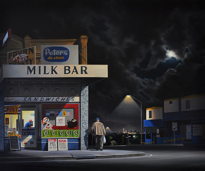 Peter Smets , Convenience    2017, oil on canvas, 75 x 90 cm