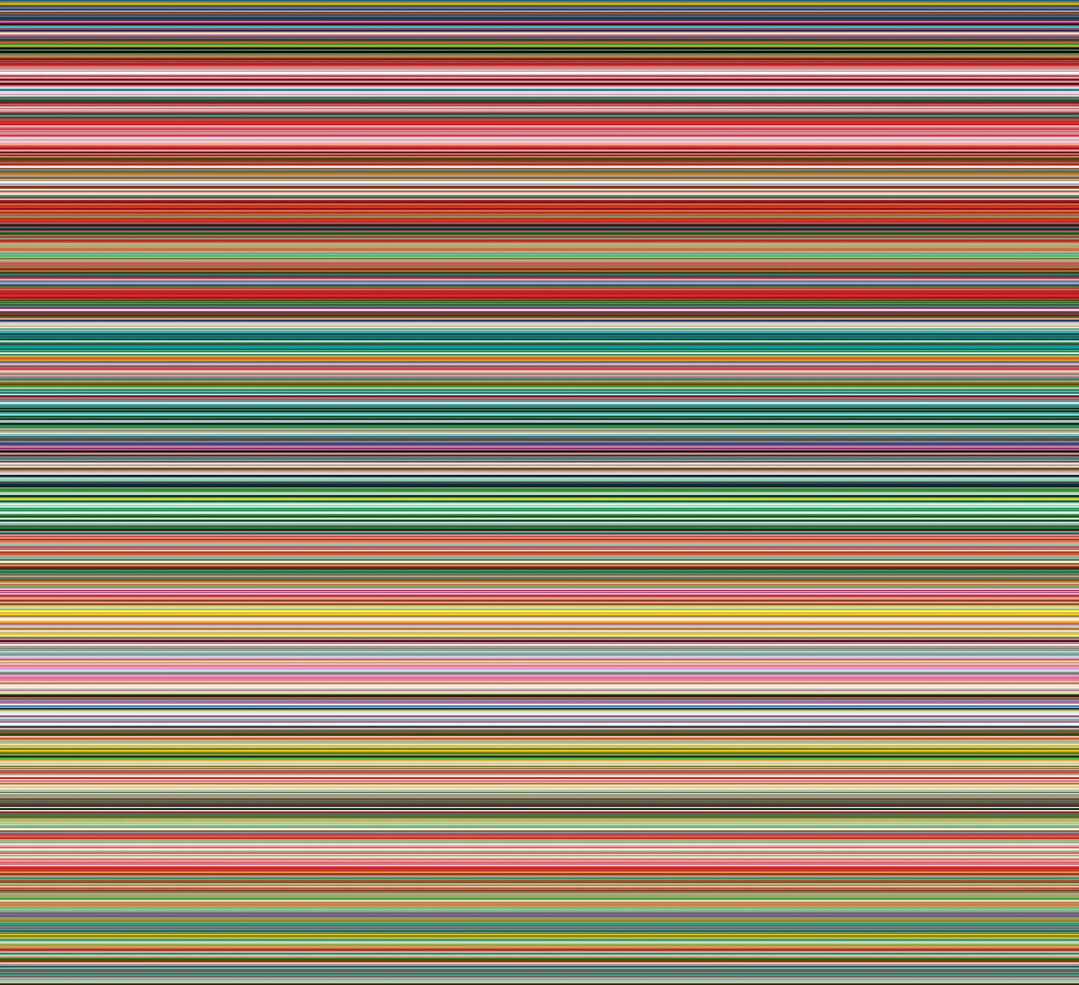 Gerhard Richter,  Strip , 2012. Digital print between Alu Diabond and Perspex, 210x230cms.