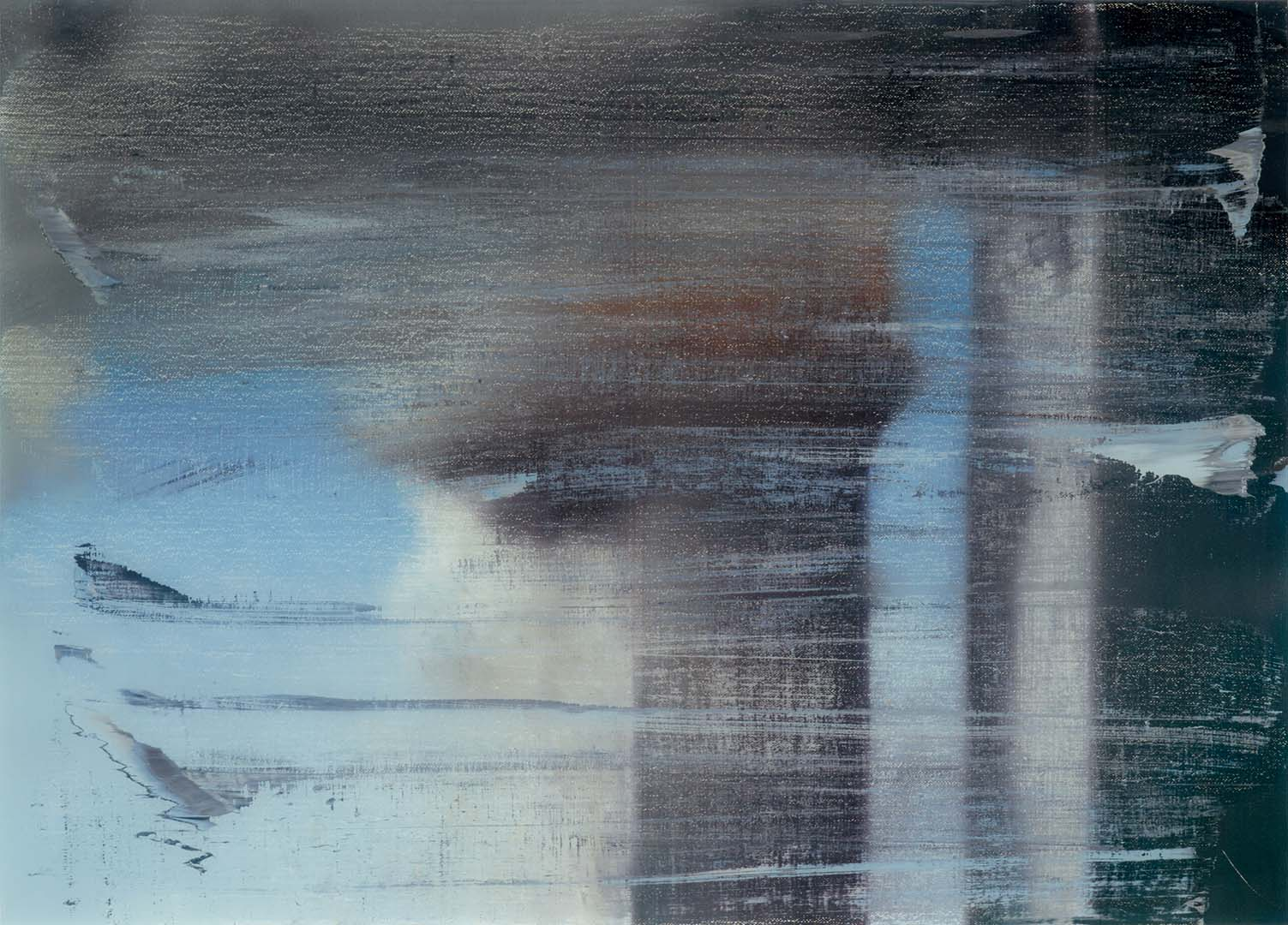 Gerhard Richter,  September , 2009. Print between glass, 66 x 89 cms.