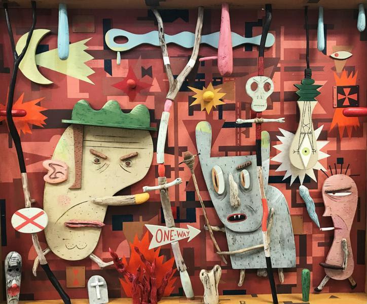 It's Like a Jungle Sometimes , Jeff Raglus, mixed media, 125 x 186 x 14cm