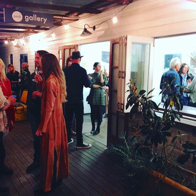 Christian Morrow's exhibition Outrun the Cage opening at @packgallerystudio last night. A great turnout - congrats @christianmorrow 📸 @alexmango1