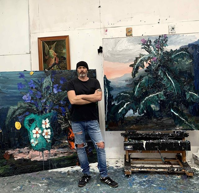 Paul Ryan in his studio ... 📸 @paulryan88 @jamesmakingallery