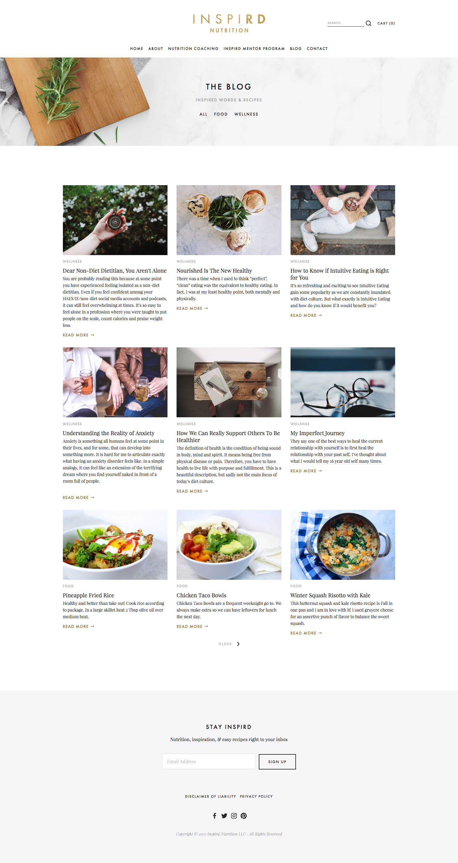 Inspird Nutrition Web Design by LR Creative