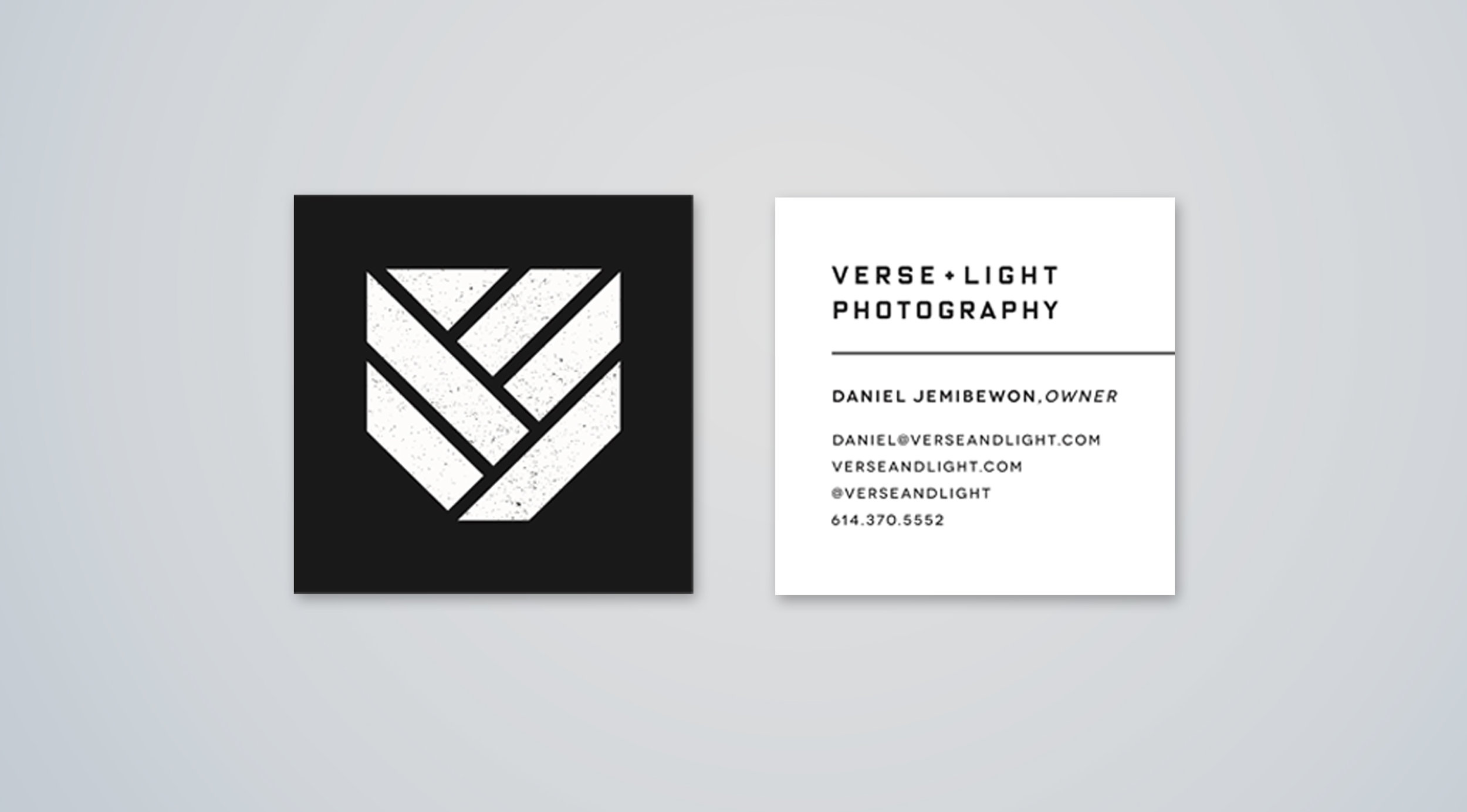 verse and light business card