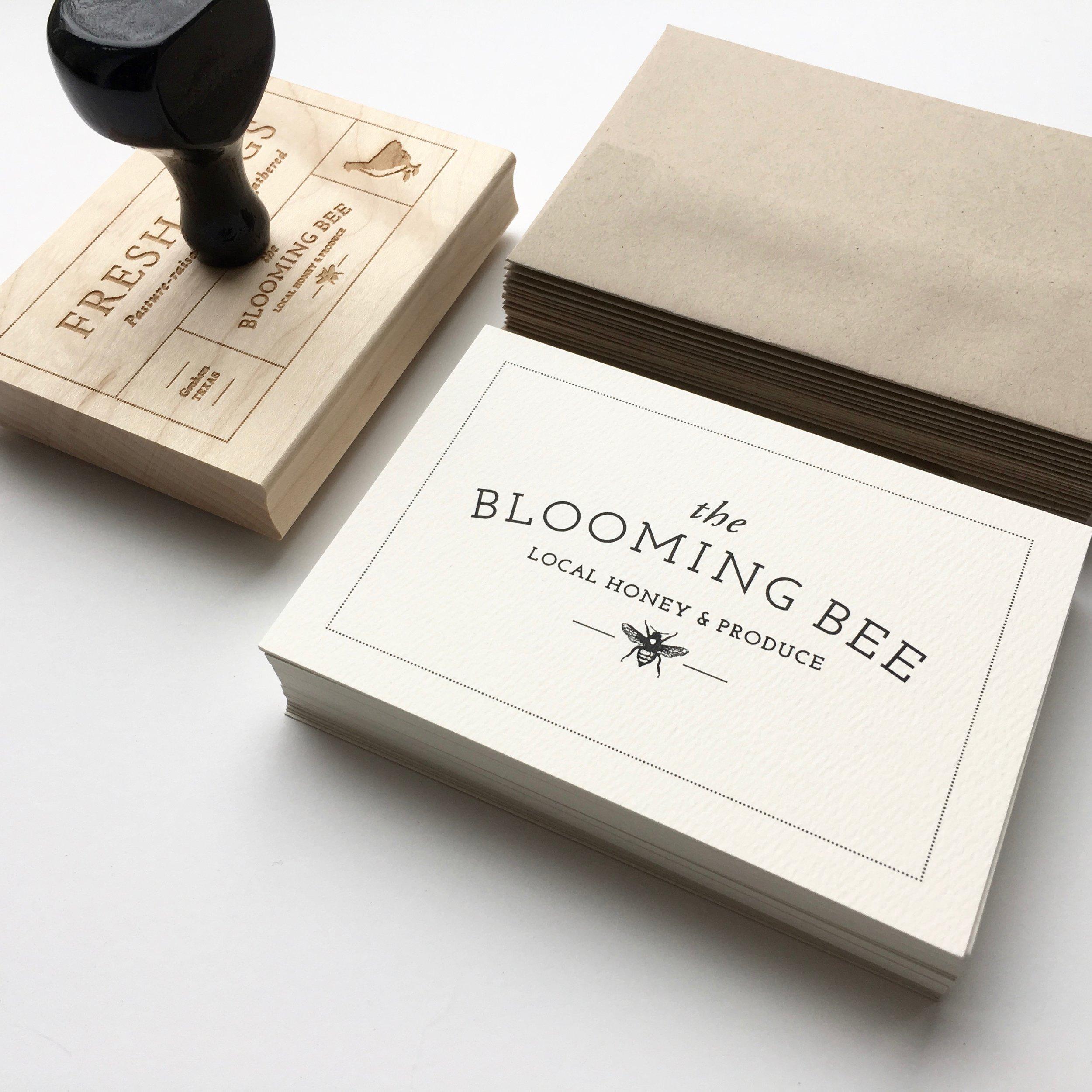 blooming bee branding
