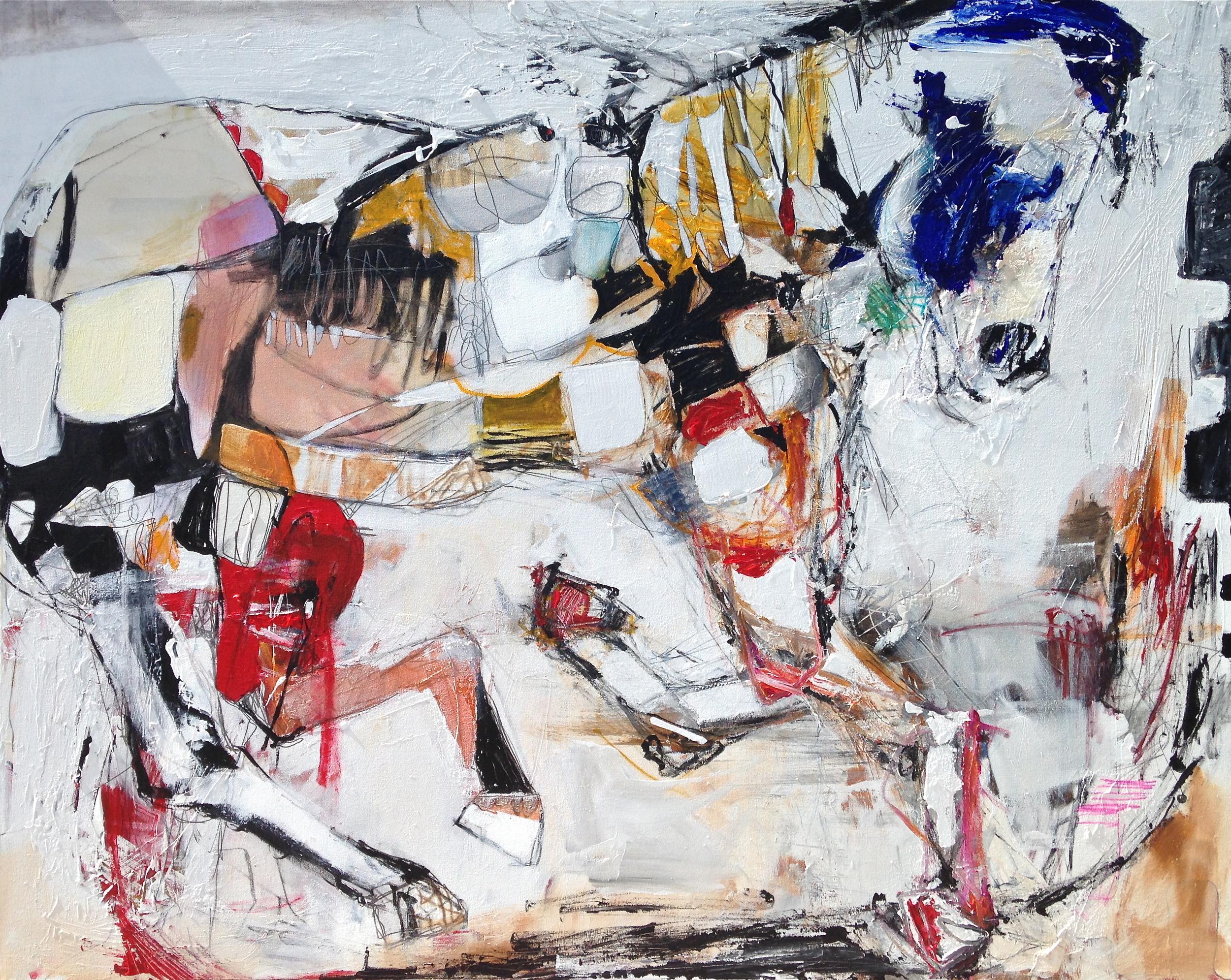 """Breaking Binds"" Acrylic on canvas 48""x60"" $6,400"