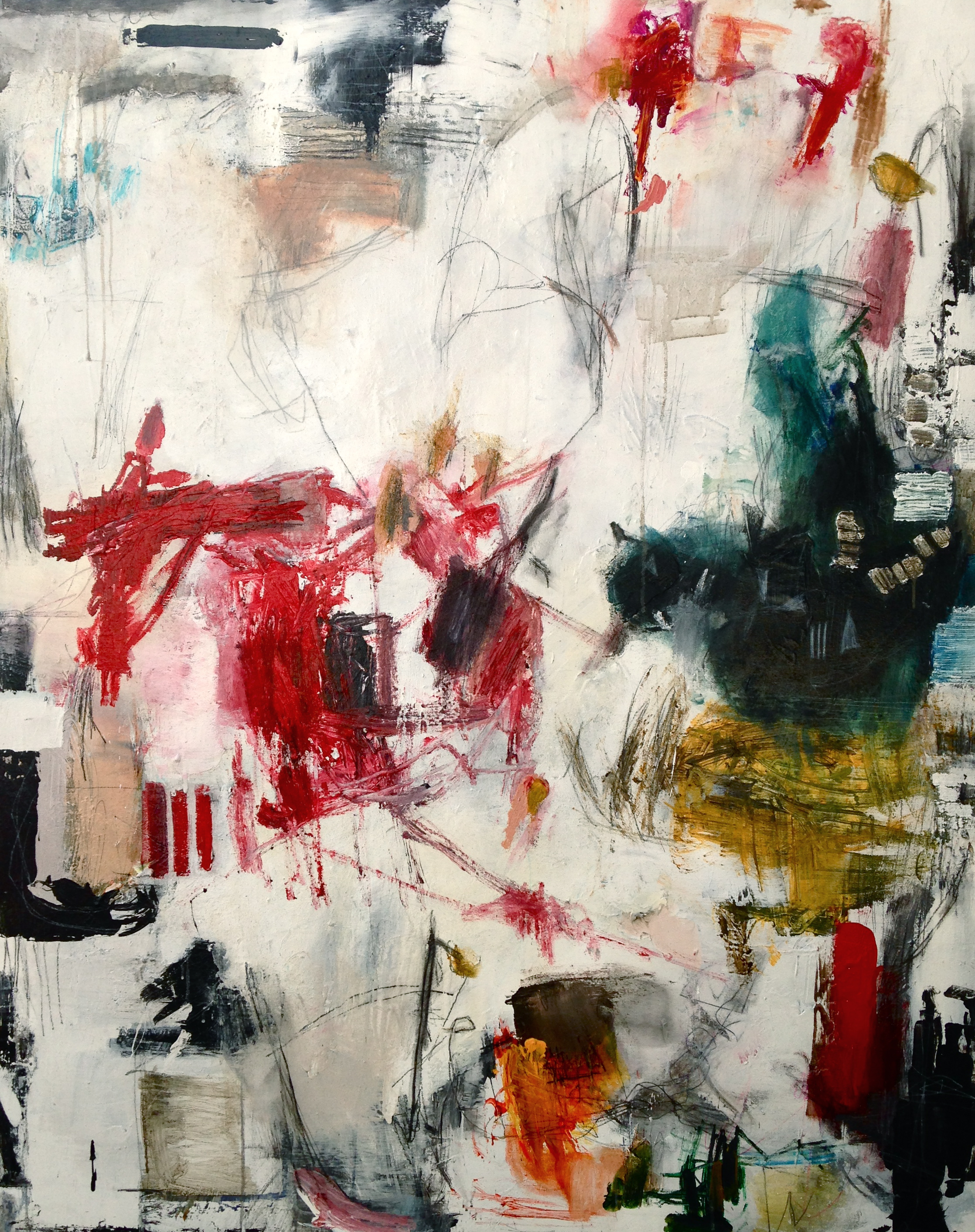 """""""Timely Disorder"""" Acrylic on canvas 60""""x48"""" Retail price: $6,400"""