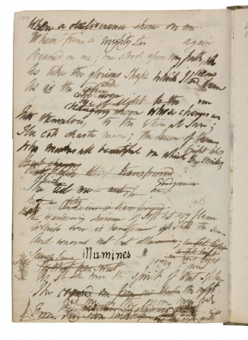 Page from the original manuscript copy of Epipsychidion