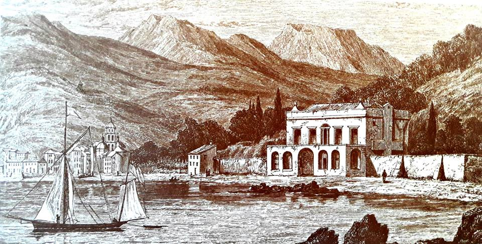 The Casa Magni where Shelley and Mary lived in the Village of San Terenzo - as it might then have looked.