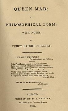 From the 1813 edition published by Shelley himself.  Foot no doubt has a beautifully bound copy from a later time.