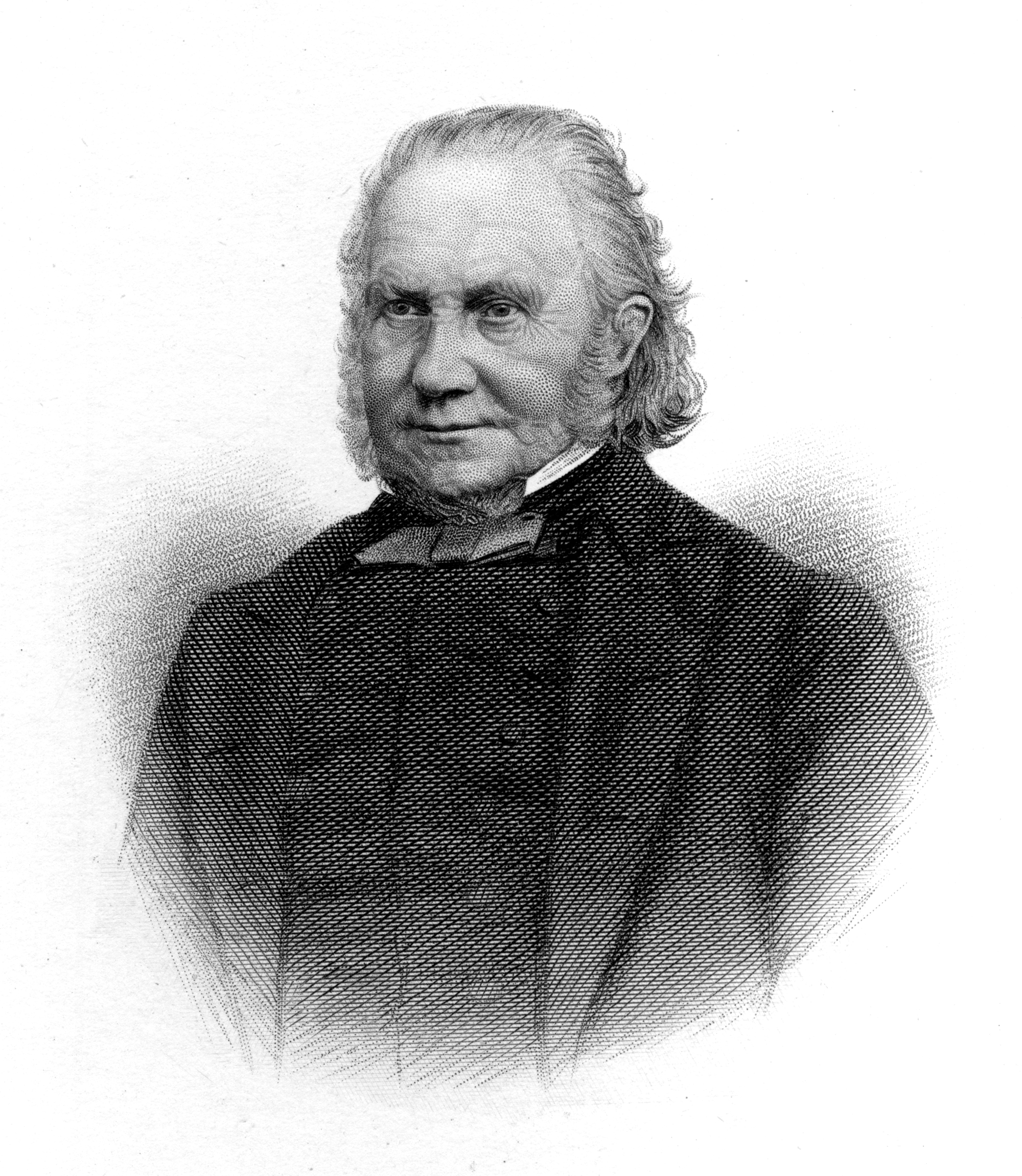 Thomas Cooper. By J. Cochran - Engraving of photograph, frontispiece, Life of Thomas Cooper.