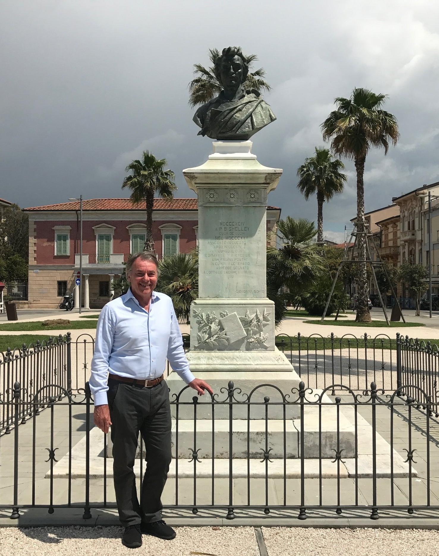 Shelley Square in Viareggio, Italy.