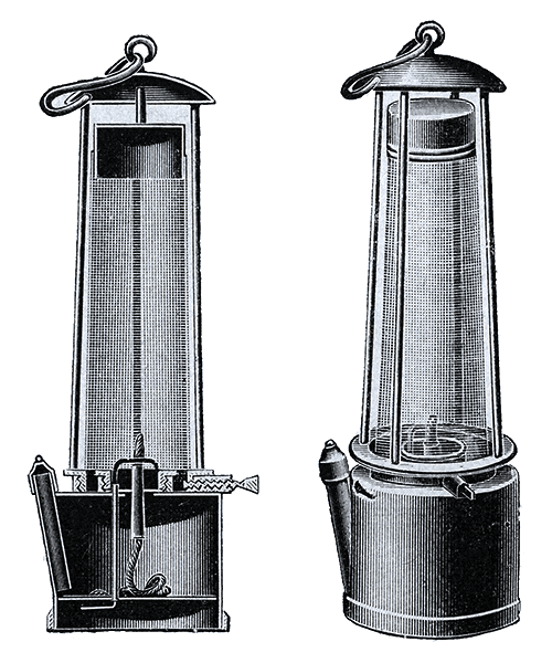 The Davy Lamp which saved countless lives.
