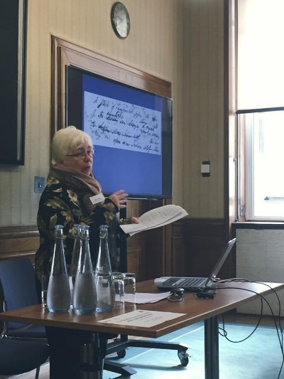 Prof. Nora Crook speaking at The Shelley Conference 2017