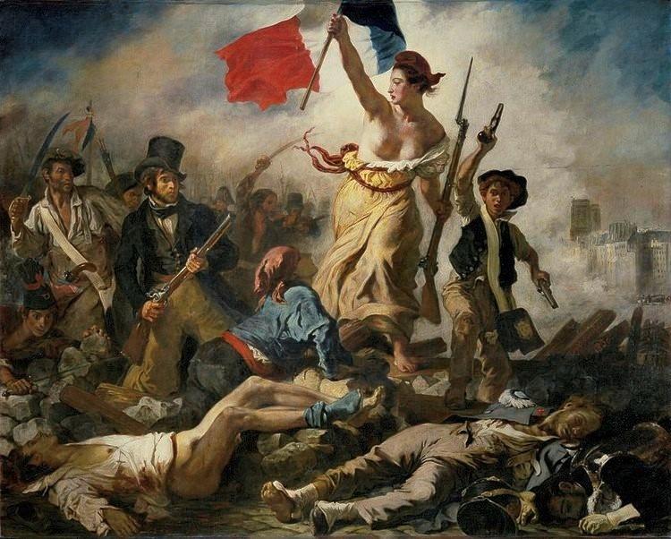 Eugene Delacroix, Le 28 Juliet. La  Liberté guidant le peuple.
