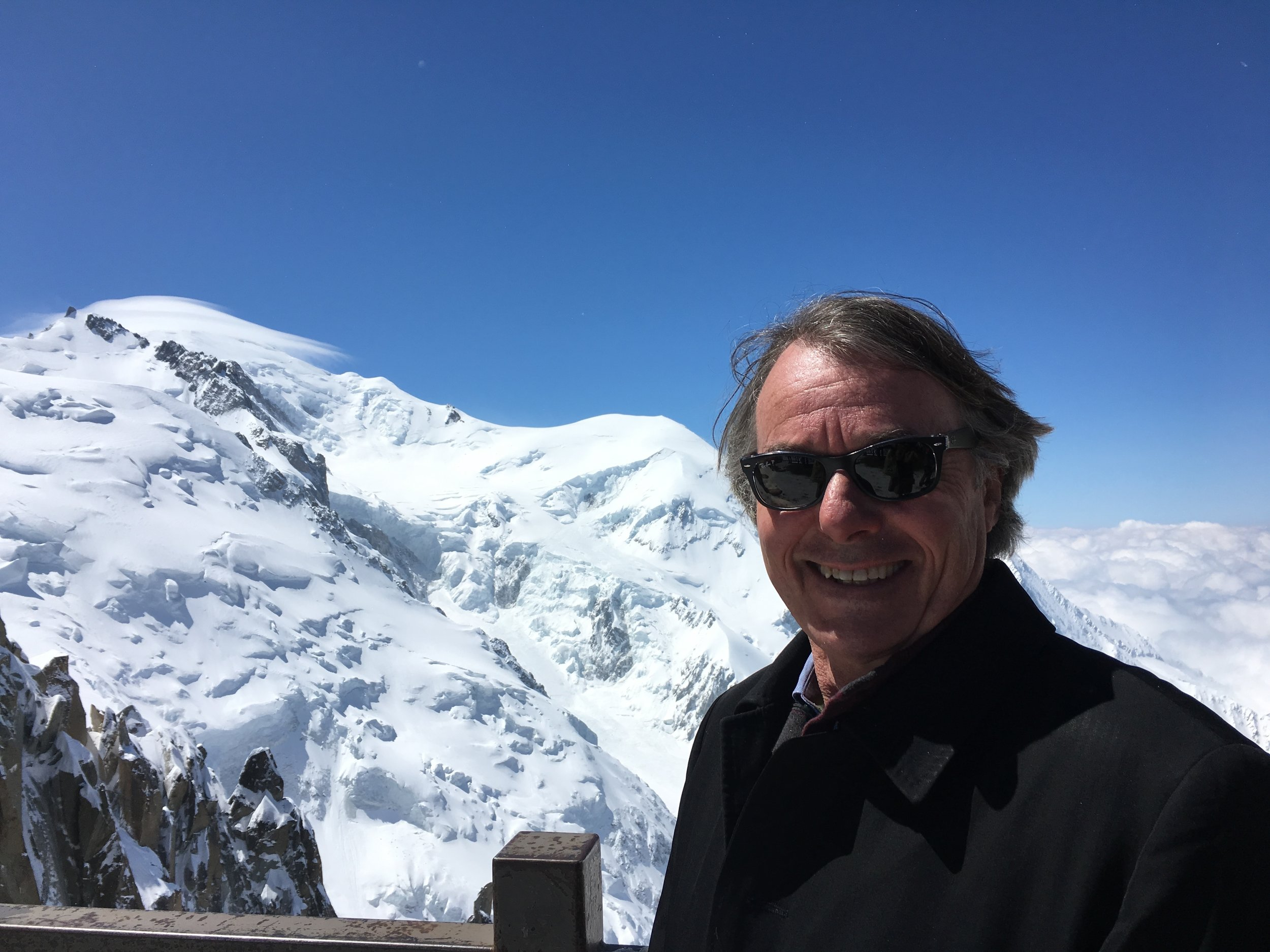 Graham with Mont Blanc in the background, 2016.
