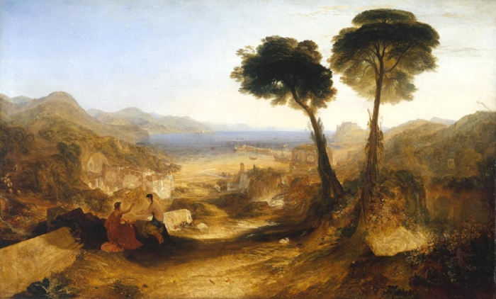 """J.M.W. Turner, """"The Bay of Baiae with Apollo and the Sibyl"""" (1823)"""