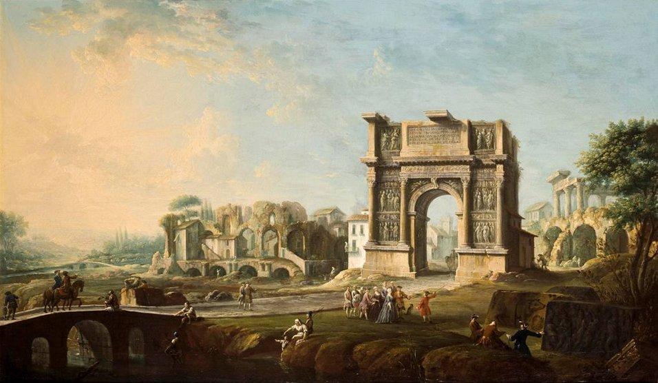Antonio Joli,  View of ... Benevento  (1759)