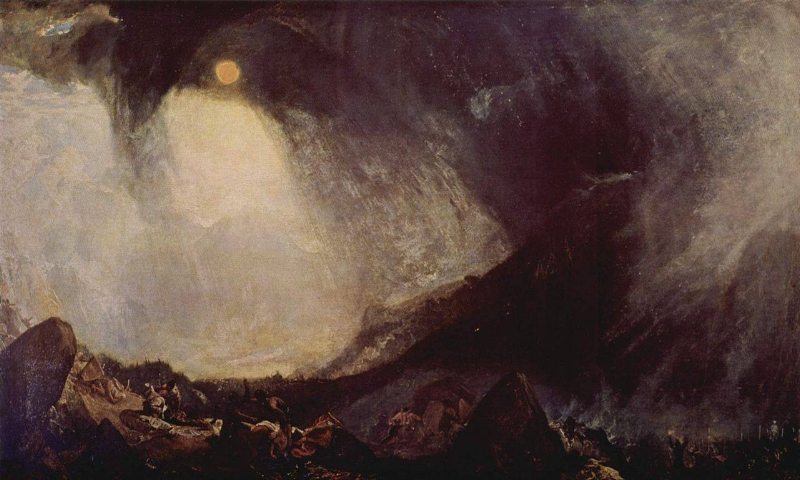 J.M.W. Turner,  Snow Storm: Hannibal and His Army Crossing the Alps  (1812)