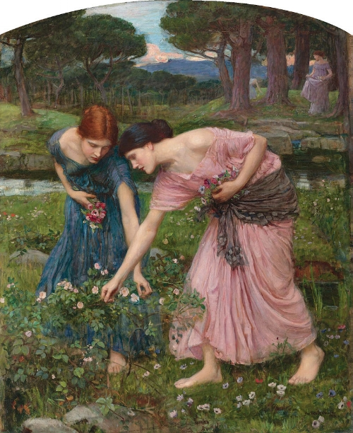 John William Waterhouse, Gather Ye Rosebuds While Ye May  (1909)