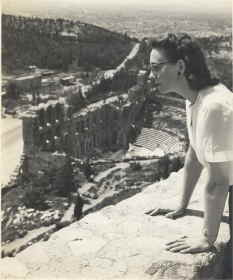 My world traveling mother in Greece, c 1951