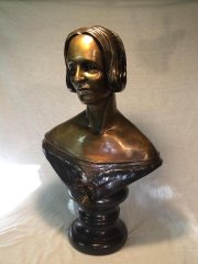 Bryan Moore's bust of Mary Shelley.