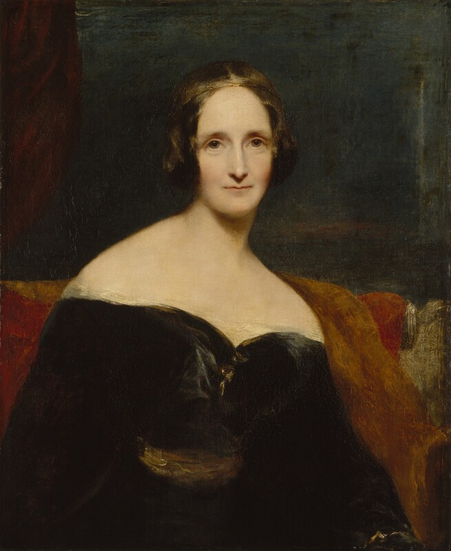 Mary Shelley by R. Rothwell. National Portrait Gallery.