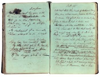 "Shelley's early draft of ""Ode to the West Wind,"" 1819, Bodleian Library"