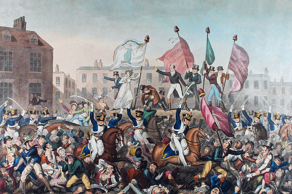Richard Carlile,  Peterloo Massacre , aquatint and etching, 1819, National Portrait Gallery