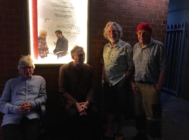 Left to right, Dietmar Lederwasch, Euan Macleod, Dick Frizzle and Peter Kingston at Coffs Harbour