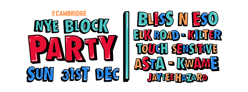 Newcastle, get that bubbly at the ready: The Cambridge NYE Block Party returns December 31 with its biggest line up yet!