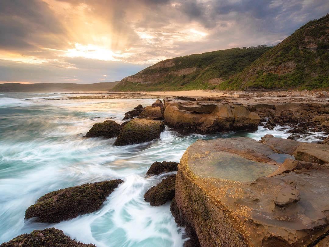 @treesandsea Merewether baths sunrise Newcastle