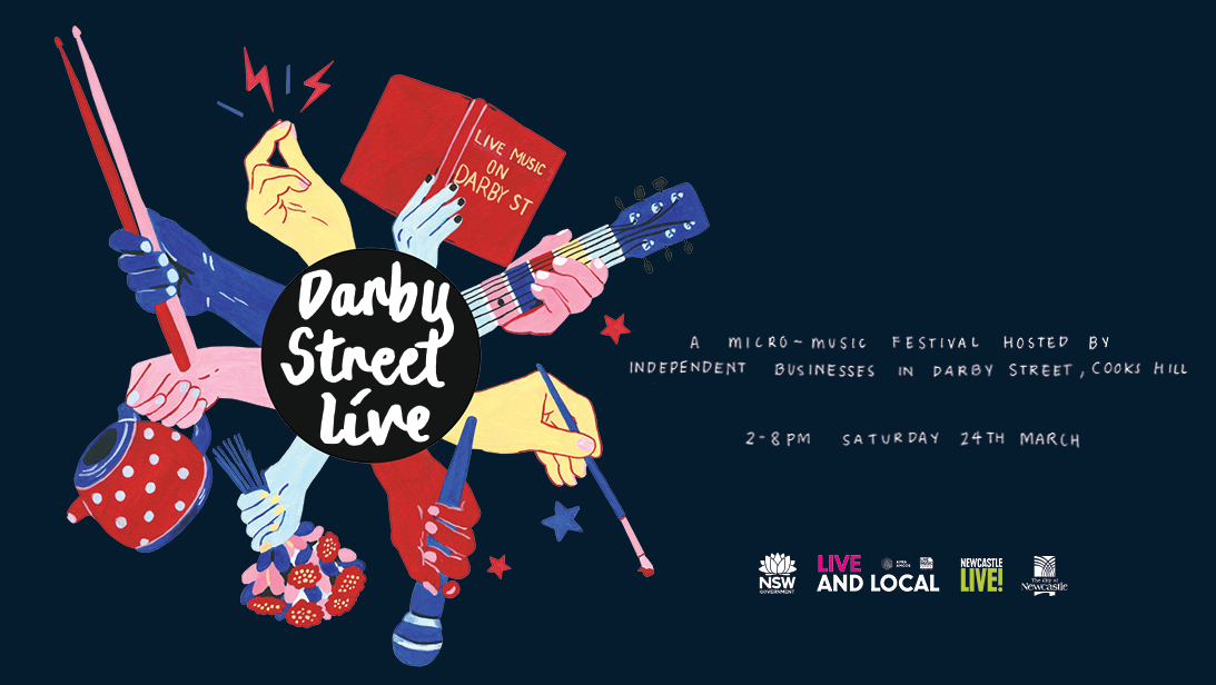 Darby Street Live Newcastle March 24