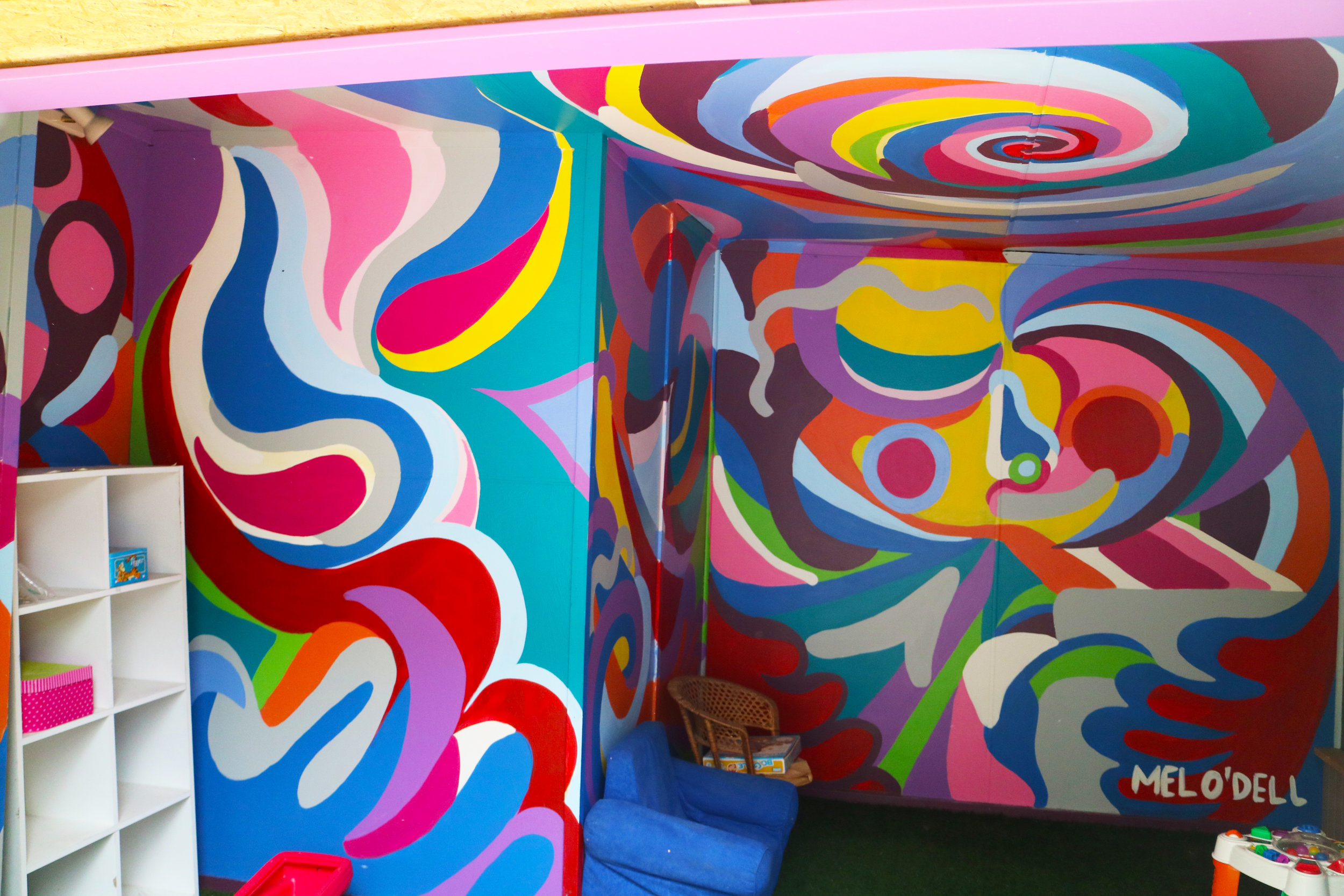 Suspension Cubby House Mural
