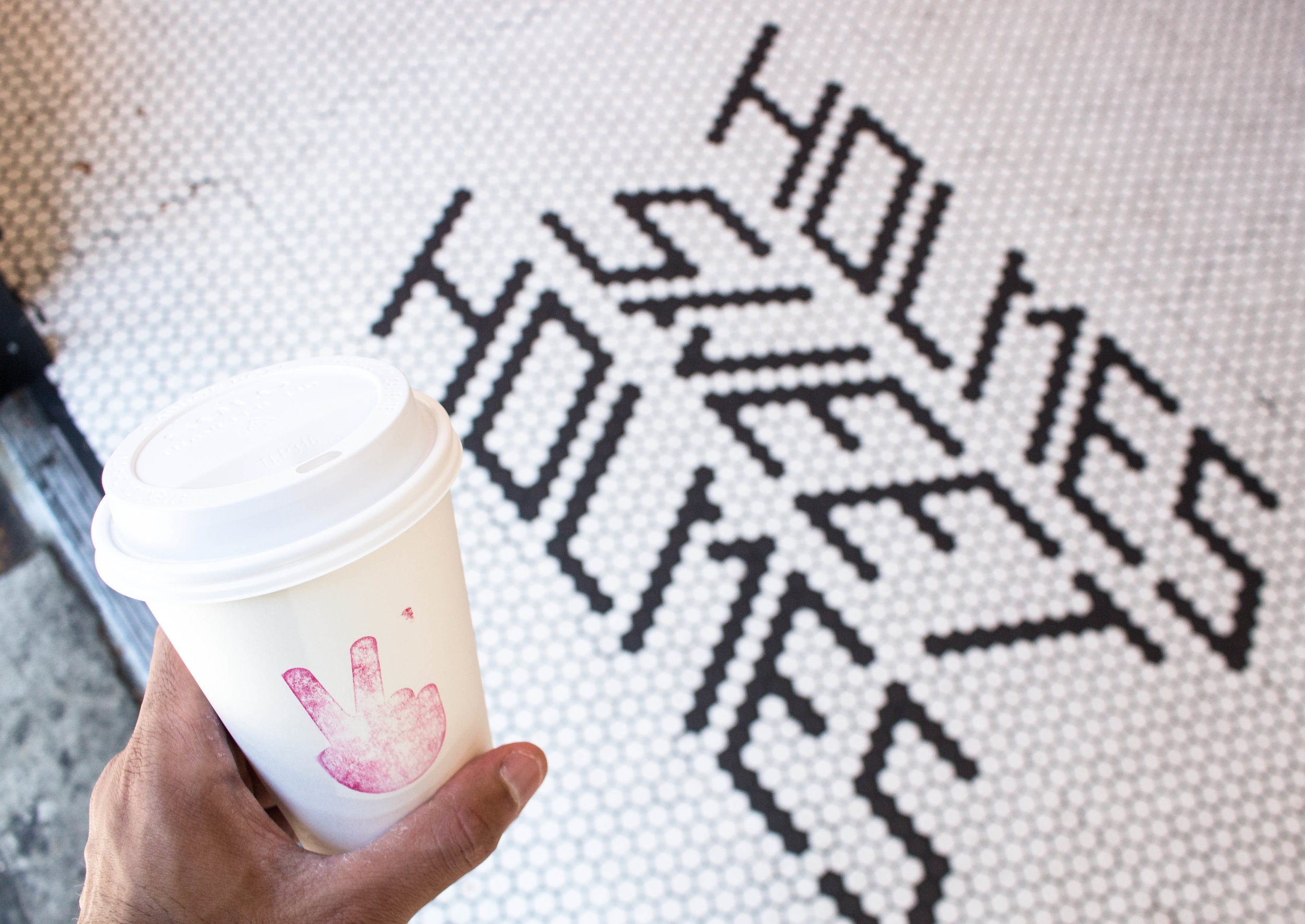 Can we just talk about this warm welcome on your way in?#ihavethisthingwithfloors