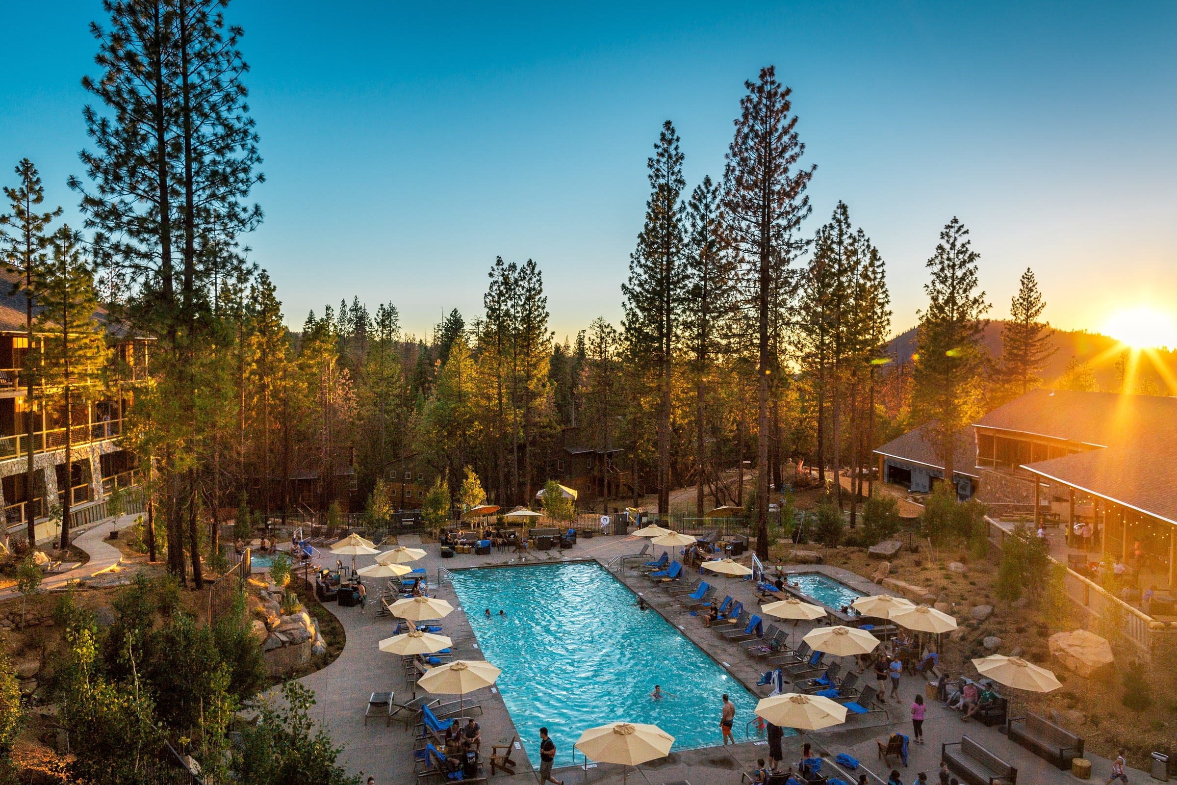 THE POOL at  RUSH CREEK LODGE  IN YOSEMITE NATIONAL PARK