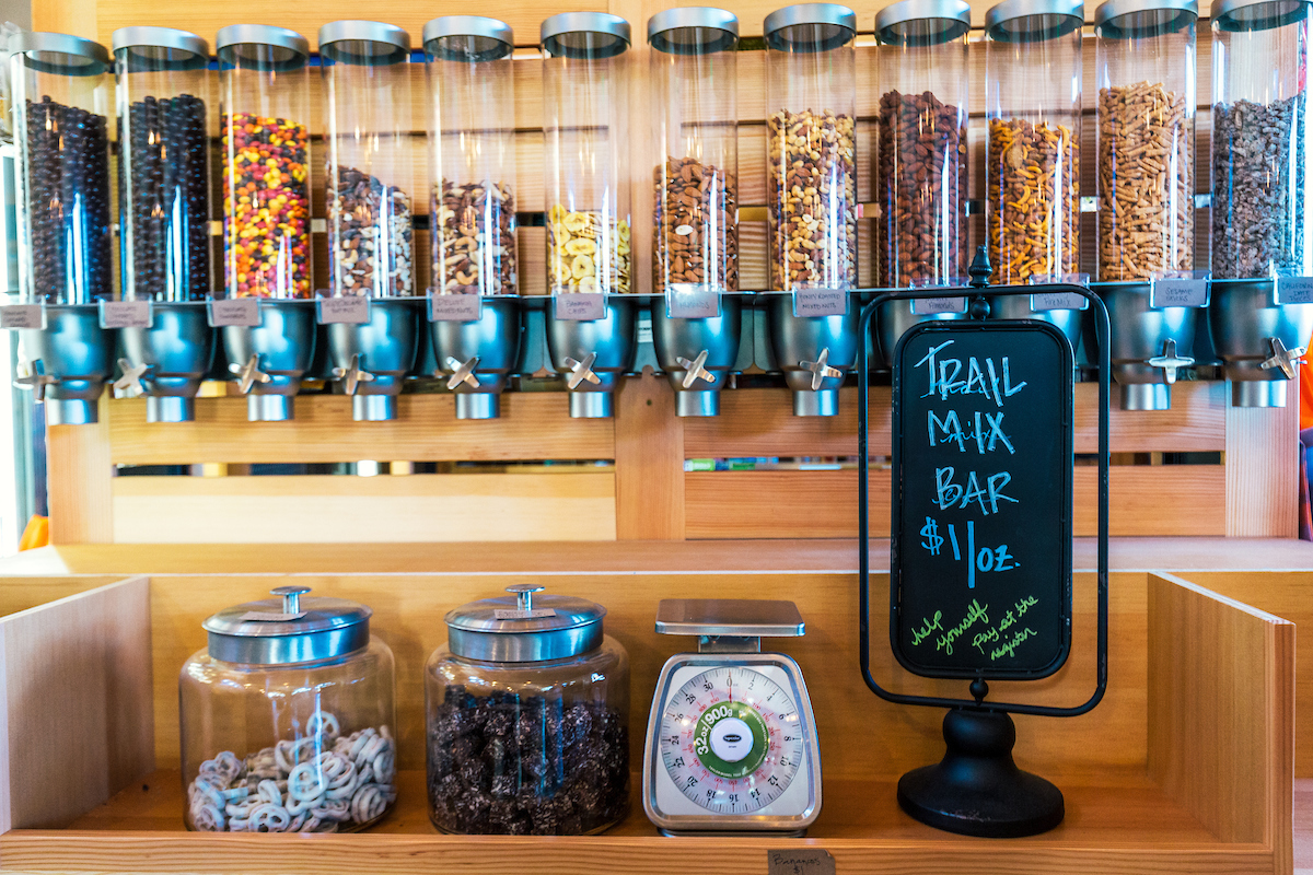 AN ABUNDANCE OF SNACKS AT THE GENERAL STORE AT   RUSH CREEK LODGE   IN YOSEMITE NATIONAL PARK