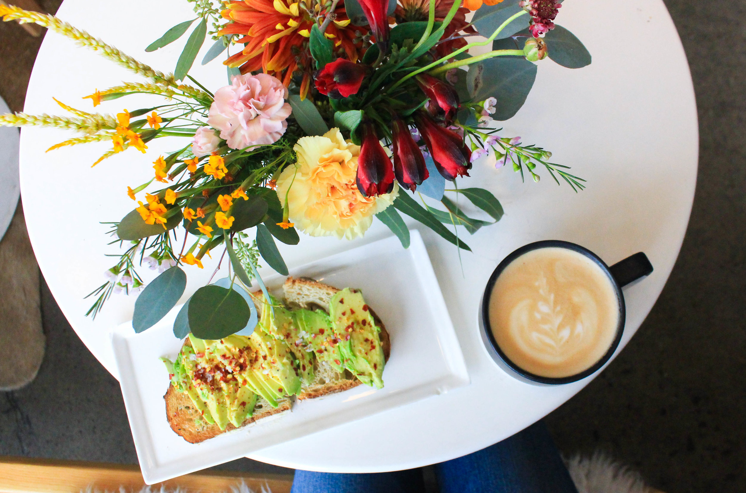Communal Coffee: Coffee and Flowers and Avocado Toast